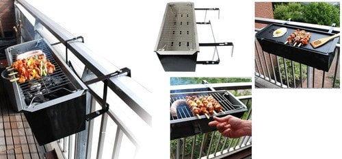 barbecue per grigliare sul balcone