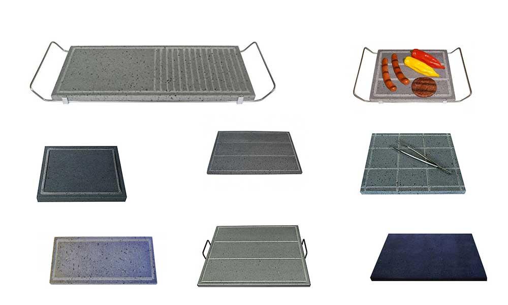 Pietra lavica per cucinare | Piastre per Barbecue o fornelli