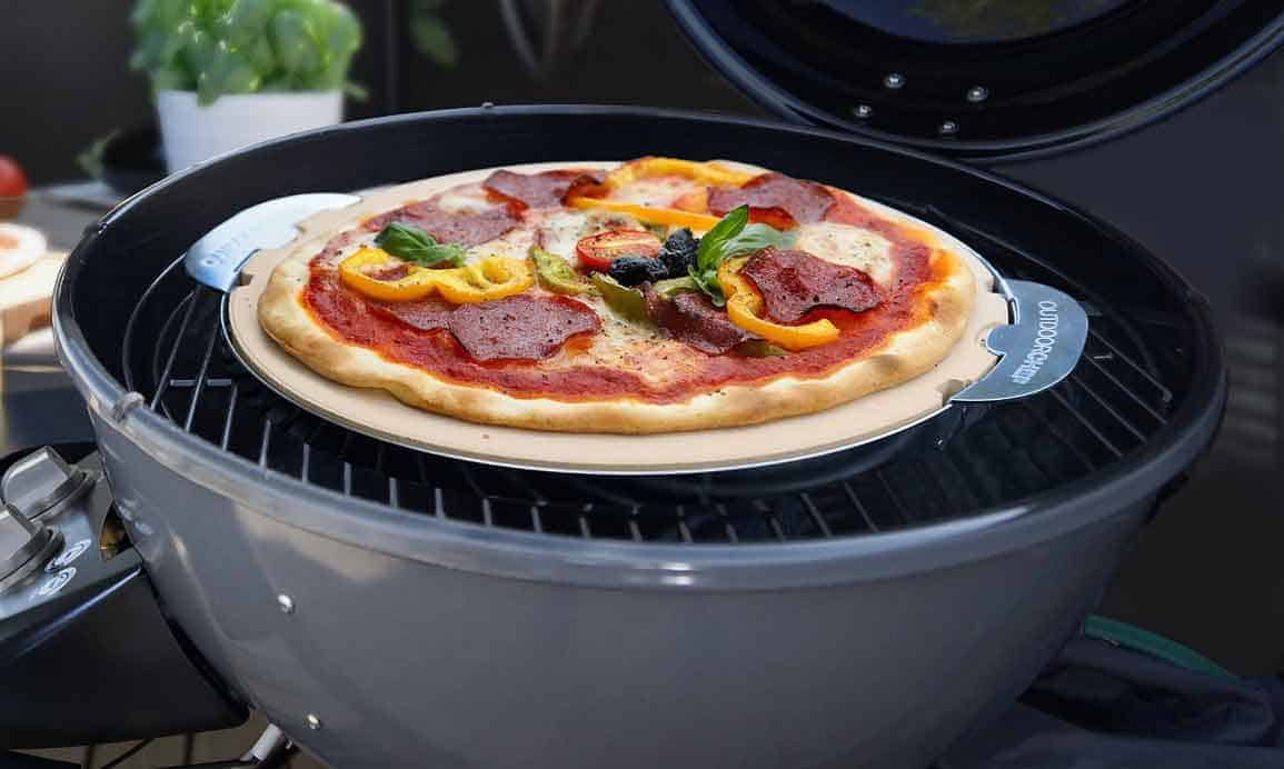 Pietra refrattaria per pizza per il barbecue e accessori - Forno con pietra refrattaria ...