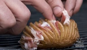 patate hasselback bacon