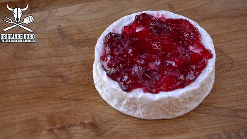 formaggio griglia camembert placca cedro formaggio fuso