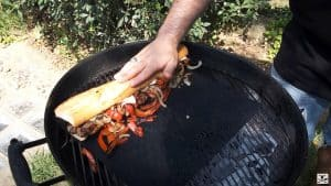 Panino salsiccia alla griglia