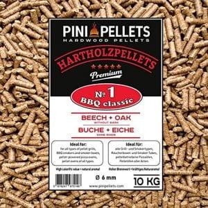 Legno in pellet per barbecue n.1   Pini 10kg