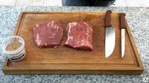 Rub bistecca Flat Iron Steak