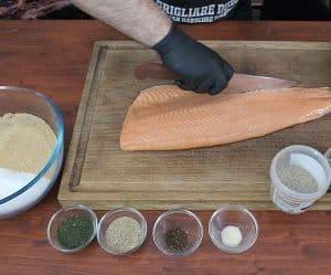salmone affumicato preparazione