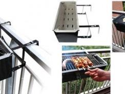 3 Barbecue per grigliare sul balcone direttamente dalla ringhiera !