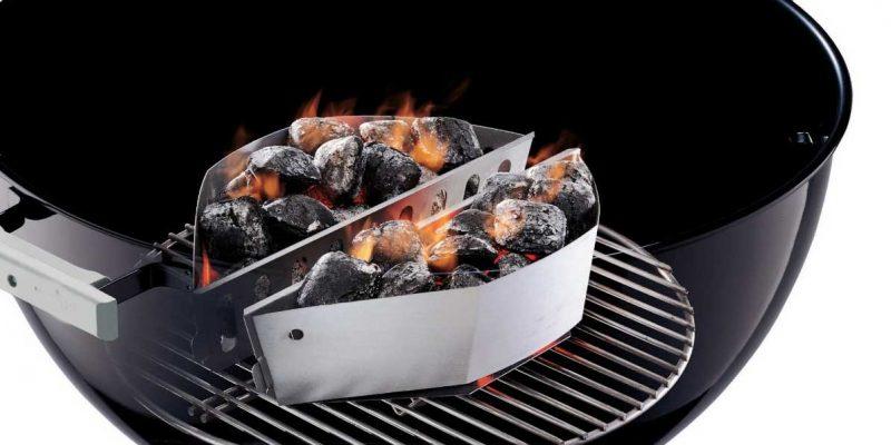 Cesti separa carbonella   Cottura indiretta facilitata sui kettle