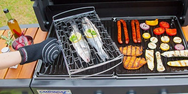 Protezione dal calore per barbecue forno griglia Guanti da barbecue per cuocere e grigliare cucinare taglia M affumicare