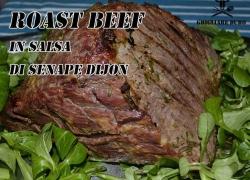 Roast Beef in salsa di senape Dijon, ovvviamente nel Barbecue
